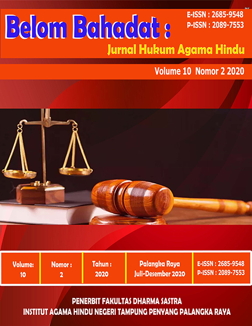 Jurnal Belom Bahadat Vol 10 No 2 2020